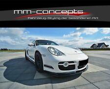 CUP Spoilerlippe für Porsche Cayman S 987C Frontspoiler Spoilerschwert Spoiler