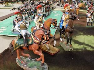 Three Metal French Cuirassiers of Napoleonic age 54mm