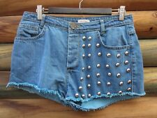Pull & Bear Blue Denim Shorts Size EUR 40 MEX 30 Measured Waist 30