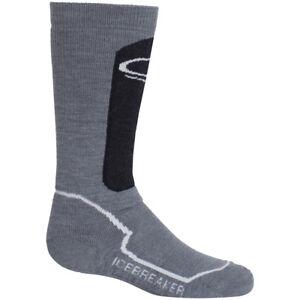 Icebreaker OTC Kids Ski Socks, Twister/Jet/Snow