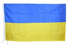 BANDIERA UCRAINA UKRAINIAN FLAG UKRAIN GIALLO BLU TIFOSI CALCIO cm 90x150