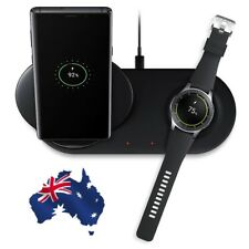 5V 0.4A 2 in 1 Fast Charging Wireless Charger Pad For Samsung Phone & Watch New