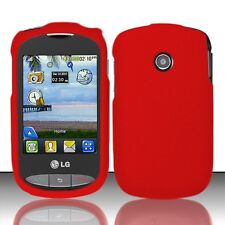 Hard Rubberized Case for LG 800G - Red
