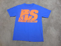 Rogue Status Shirt Adult Medium Blue Orange Skater Skateboarding Dyrdek Mens