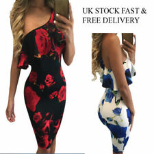 Bodycon Floral Sheath Dresses for Women