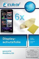6x Blackberry Z30 Pellicola Prottetiva Transparente Proteggi Schermo