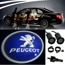 2 x Peugeot Logo LED Light Bulbs Projection Courtesy Lights Decorative Tuning