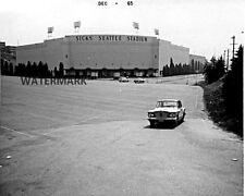 1965 Sick's Seattle Stadium Front Entrance View Black & White 8 X 10 Photo
