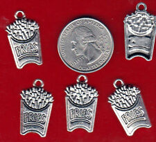You Get 20 Silver Tone Metal French Frie Charms. - Junkmanralf U.S. Seller - A3