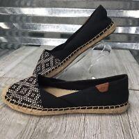 Sperry Topsiders Women Sunset Skimmer Espadrille Southwest Black Ivory Shoe Sz 8