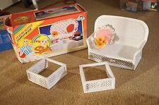 Sindy PEDIGREE vintage doll anni 1980 Raro difficile da trovare Lusso Divano Poltrona Furniture Set