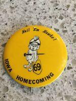 Iowa Hawkeyes Homecoming College Football Nail 'Em Hawks 1969 Badges Vintage