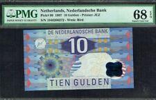 1997 Netherlands 10 Gulden PMG68 EPQ  P-99  SUPERB GEM UNC