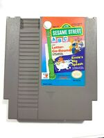 Sesame Street ABC Letter Go Round - Nintendo NES Game Authentic