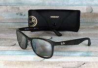 RAY BAN RB4263 601 5J Shiny Black Grey Mirror Polarized 55 mm Men's Sunglasses