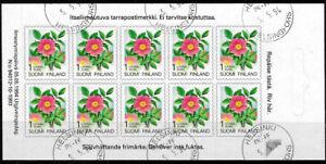Finland 1994 Flower, Provincial Plants series, Rose, Sheetlet of 10 VFU / CTO