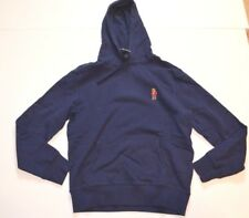 NWT Polo Ralph Lauren Bear Hoodie Sz M Medium Navy Blue Hoody