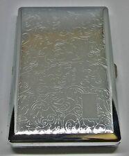 KSI Silver Engravable Double Sided Metal 120s Size Cigarette Case