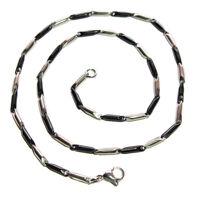 collana catena girocollo uomo in acciaio argento dorato nero c.178