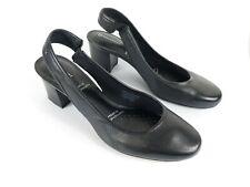 Rockport Black Leather Block Heel Slingback Shoes Uk 6.5 Eu 40