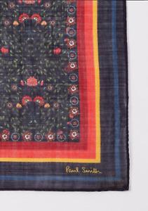 Paul Smith Pocket Square Handkerchief -BNWT Floral Artist Stripe Bolder RRP:£60