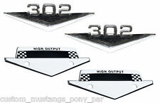 Ford Mustang 302 High Output Emblems Badges 1964 1965 1966 64 65 66 Windsor 5.0