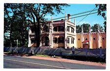 Famous Wedding Cake House Postcard Kennebunk Maine Scroll Saw Era Paper Lace