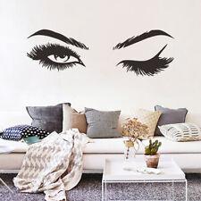 Women Eye Wall Stickers Art Beauty Salon Decal Face Girl Eyelash Decor Fashion