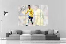 NEYMAR BRESIL BRAZIL FOOTBALL  Wall Art Poster Grand format A0 Large Print