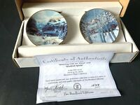 "Bradford's Mini 2 Plates ""Running w/ the Wind"" & ""Kindred Spirits""  Boxed & COA"