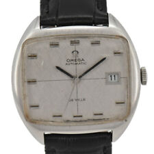 Vintage OMEGA Deville Stainless/Leather Cal.1002 Automatic Men's Watch M#93337