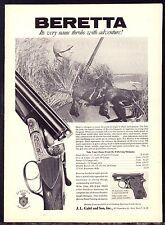 1962 BERETTA Shotgun Photo AD w/Duck Hunter