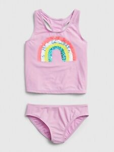 Gap Kids Girl's Flippy Sequin Rainbow Two Piece Tankini Swim Suit NWT Var Sizes