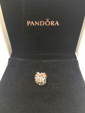 Pandora Argento Sterl. Natale PINECONE rosso dello smalto Charm S925ALE 791237EN39