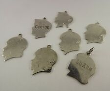 7 Vintage Sterling Silver Cameo Children Charms .925 Solid 16.8 Grams