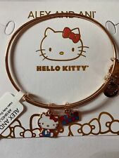 Alex Ani Hello Kitty Charm Bangle Pink Gold Finish New with Tag