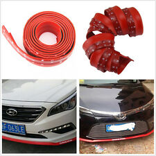 2.5M Red Rubber Car Front Bumper Spoiler Lip Splitter Valance Chin Protector Kit