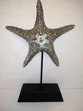 NEW Starfish Statue Sculpture - Antique Silver Nautical Beach Home Decor
