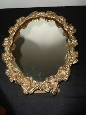Vintage Gold Plated MATSON STYLE Hollywood Regency Oval MIRROR/PICTURE FRAME