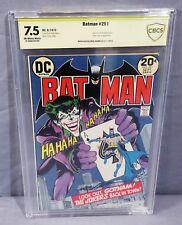 BATMAN #251 (Neal Adams signed, Classic Joker Cover) CBCS 7.5 DC Comics 1973 cgc
