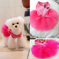 Small Pet Dog Lace Tutu Dress Puppy Cat Princess Skirt Apparels Clothes US
