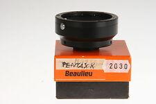Beaulieu C-Mount Adapter #2030 Pentax K  mit OVP