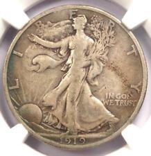 1919-S Walking Liberty Half Dollar 50C - NGC VF20 - Rare Key Certified Coin!