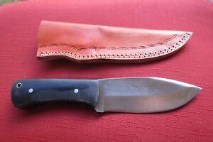 CUSTOM HANDMADE 1095 HIGH CARBON STEEL HUNTING KNIFE WITH Carbon Fiber HANDLE