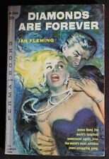 PERMA M3084 IAN FLEMING JAMES BOND 007 DIAMONDS ARE FOREVER GVG 1ST ROSE COVER!