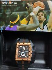 Reloj TIME FORCE Colección PAU GASOL de Acero Chapado, Crono. Correa de Caucho