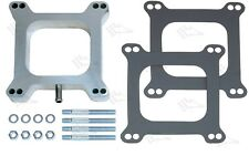 "1"" - One Inch Aluminium Carb Spacer Kit With Vacuum Port - Holley Edelbrock 4bbl"