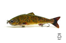 Fishing Lure Brown Trout Multi Jointed Swimbait Bait for pike 1ST CLASS