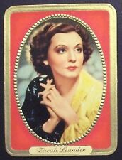 Zarah Leander 1937 Garbaty Passion Film Favorites Embossed Cigarette Card #122