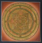 Wheel of Life (Kalachakra Mandala) - handmade thangka painting from Nepal